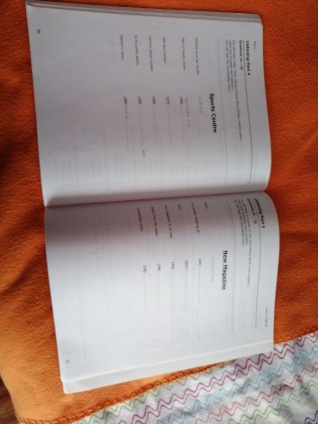 Test con páginas de respuestas para corregir