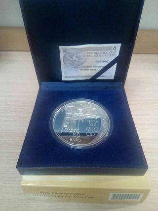 Moneda plata 50€ (cantar de mío Cid)