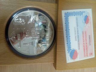 Moneda plata 50€ 2003 (1° Aniversario del €)
