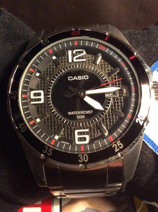 1291 Mano Segunda ¡¡nuevoDe Casio Reloj 39 Por Mtp Vintage Acero XN8n0wOkP