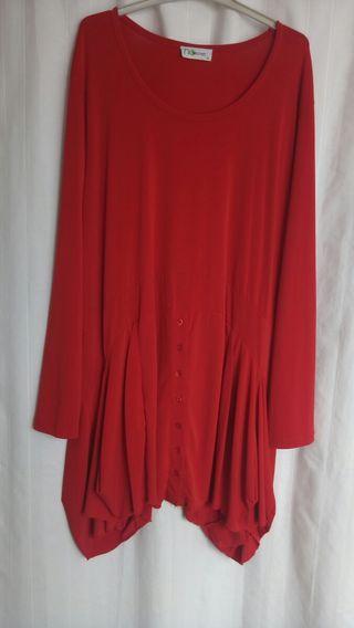 Vestido rojo talla 48