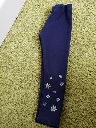 Pantalón o legin niña invierno azul marino.