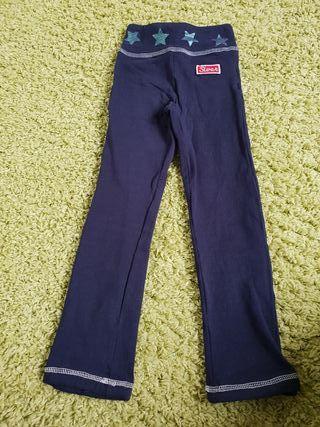 Pantalon de chandal o malla de niña azul marino