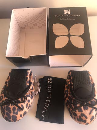 Manoletinas BUTTERFLY TWISTS LEOPARDO