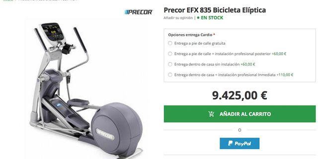 ELIPTICAS PRECOR 835 , TECHNOGYM, GIMNASIO