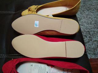 zapatos rojos y mostaza