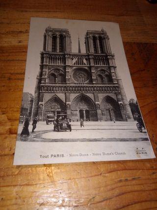 antigua carte postale paris