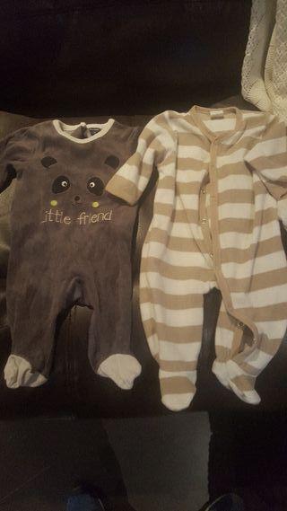 4 pijamas de 0 a 3 meses