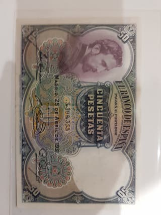 Billete de 50 pesetas de 1931 ss / ebc
