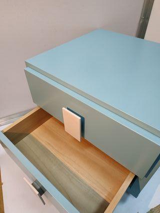 Mesa mesita dos cajones mueble DM LACADO