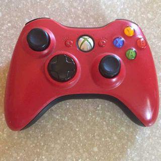 Mando xbox 360 o PC inalambrico rojo exclusivo