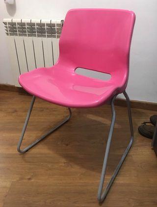 Silla escritorio rosa