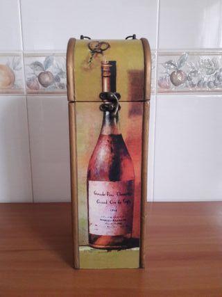 Estuche Madera Botella Vino