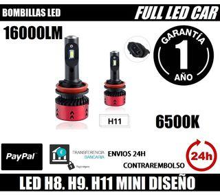 BOMBILLAS LED H8 H9 H11 MOTO COCHE CAMION 16000LM