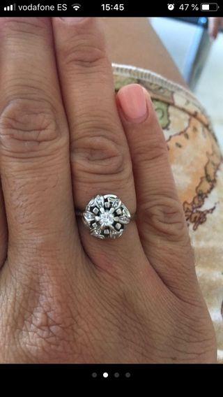 Diamantes oro blanco 18 kt