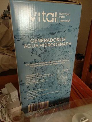 Generador de Agua Hidrogenada. Agua saludable.