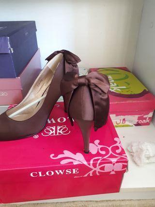 zapatos marrones número 38