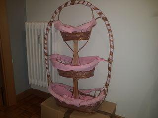 cesta mimbre 3 pisos