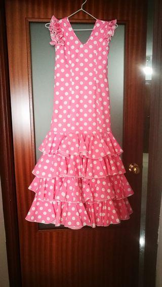 Vestido De flamenca para niña entre 8-10 años