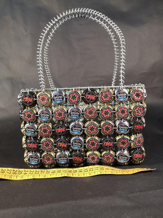 bolso de chapas de estrella galicia