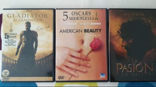 Gladiator, La Pasión, American Beauty DVD