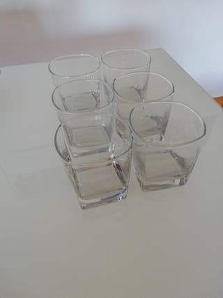 6 vasos de whisky