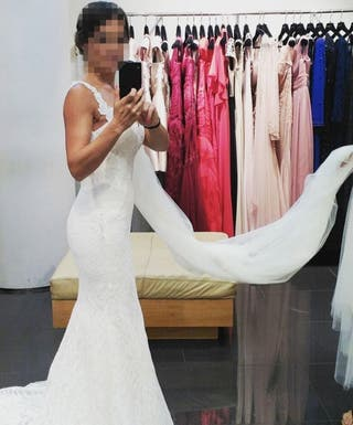 vestido de novia pronovias de segunda mano en móstoles en wallapop