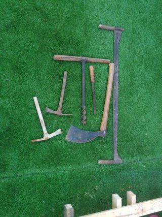 antigüedades set de herramientas de colección