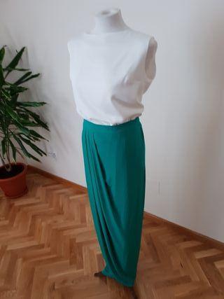 Falda larga Bruna + Blusa +cinturón