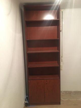 Lote 3 muebles librería