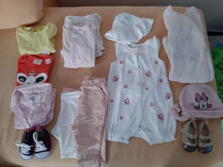 Lote bebe niña 3/6 meses