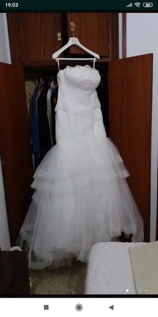 vestido de novia talla 46 de segunda mano en la provincia de cádiz