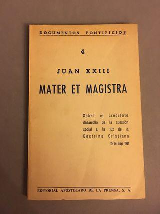 Mater et Magistra. Juan XXIII 1961