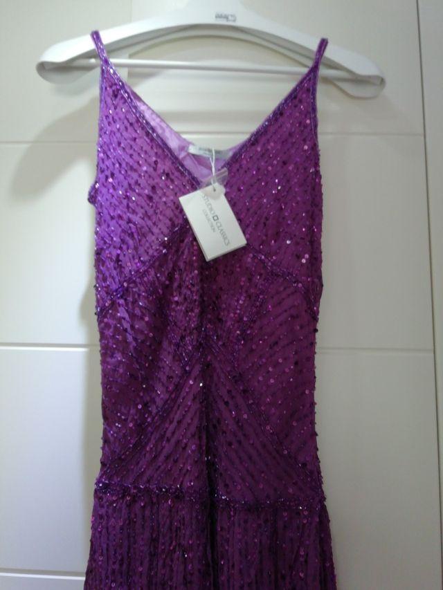 vestido studio clasics lentejuelas nuevo con etiqu
