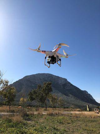 Dron DJI Phantom 2 FPV 4K + gimbal h4-3d + Gopro 4