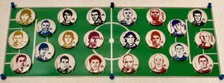 Colección de chapas de futbolistas