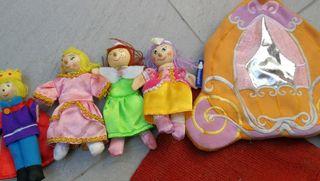 set de muñecos teatro cenicienta completo imaginar