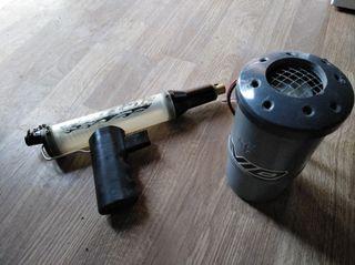 pistola y calentador