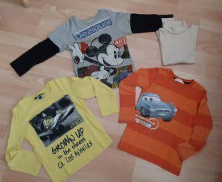 4 camisetas manga larga talla 5
