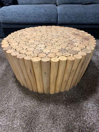 Mesa exótica madera pino