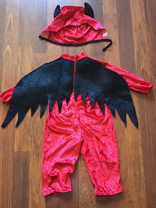 Disfraz Diablo bebé T. 6-12 meses. SIN USO