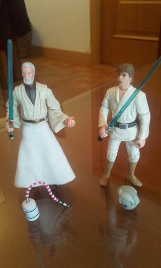 Luke y Obi Star Wars