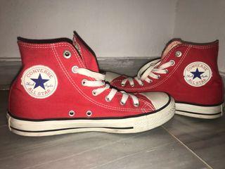 all star converse altas rojas