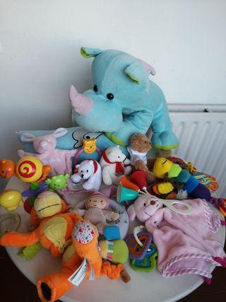 lote juguetes bebé 0-18 meses