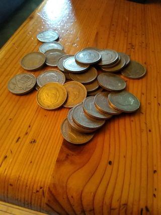 monedas duros y pesetas