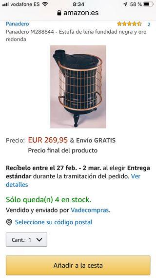 Vendo ESTUFA PANADERO No.4 de leña.