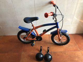 Bici infantil de niño o niña 12 pulgadas