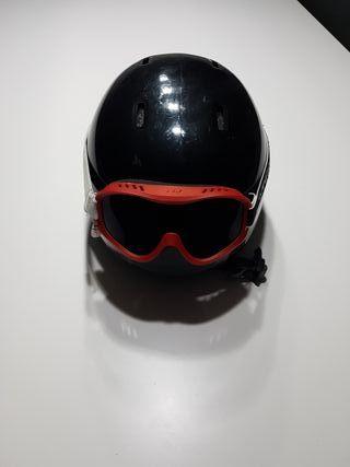Casco de esqui con gafas esqui