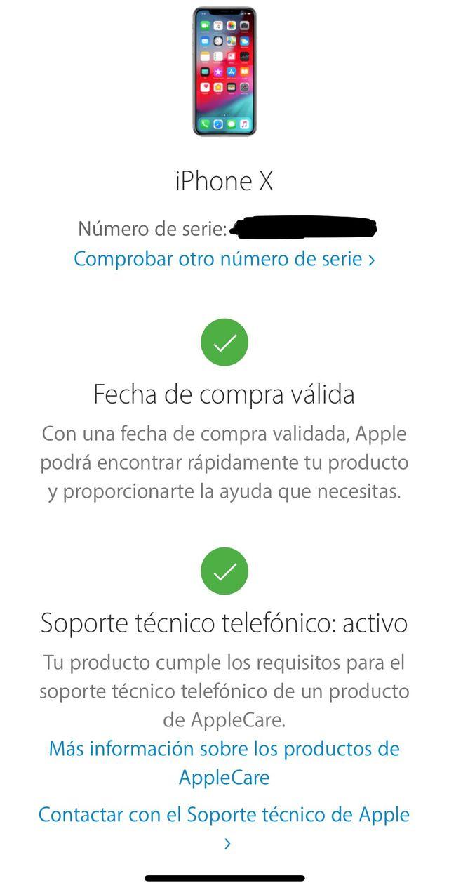Iphone X 256 Garantia Apple Care A Estrenar De Segunda Mano Por