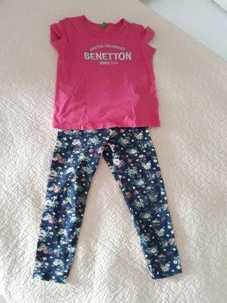 conjunto camiseta + Legging BENETTON